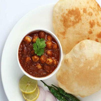 Chole Bhature without Onion