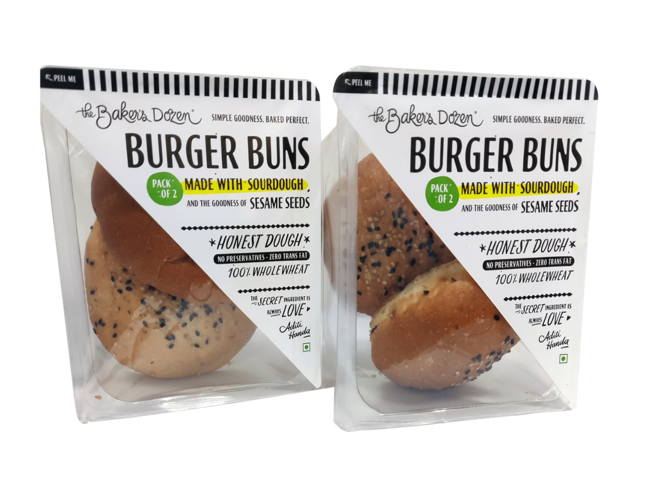 Burger Buns (Pack of 2)