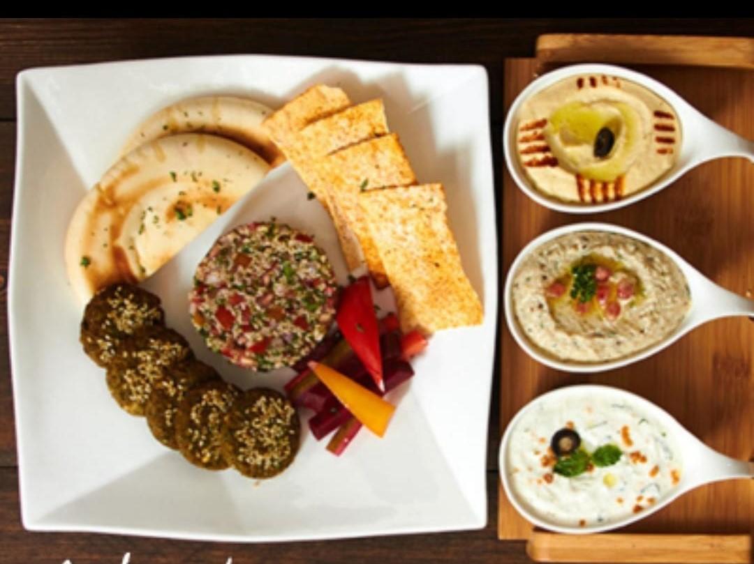 Lebanese Platter (Veg.) serves 4