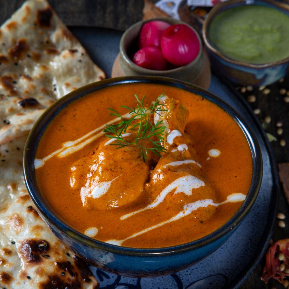 Murgh Makhani + Butter Naan / Lacha Parantha