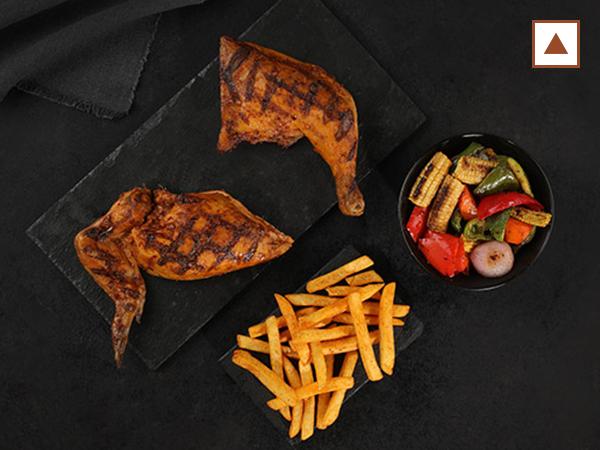 Half Grilled Chicken with 2 sides