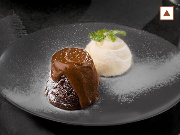 Malva Pudding with Vanilla Ice Cream