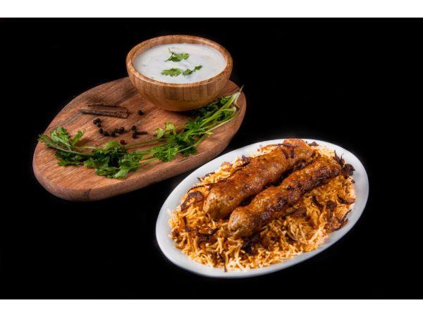 Mutton Kebab Biryani