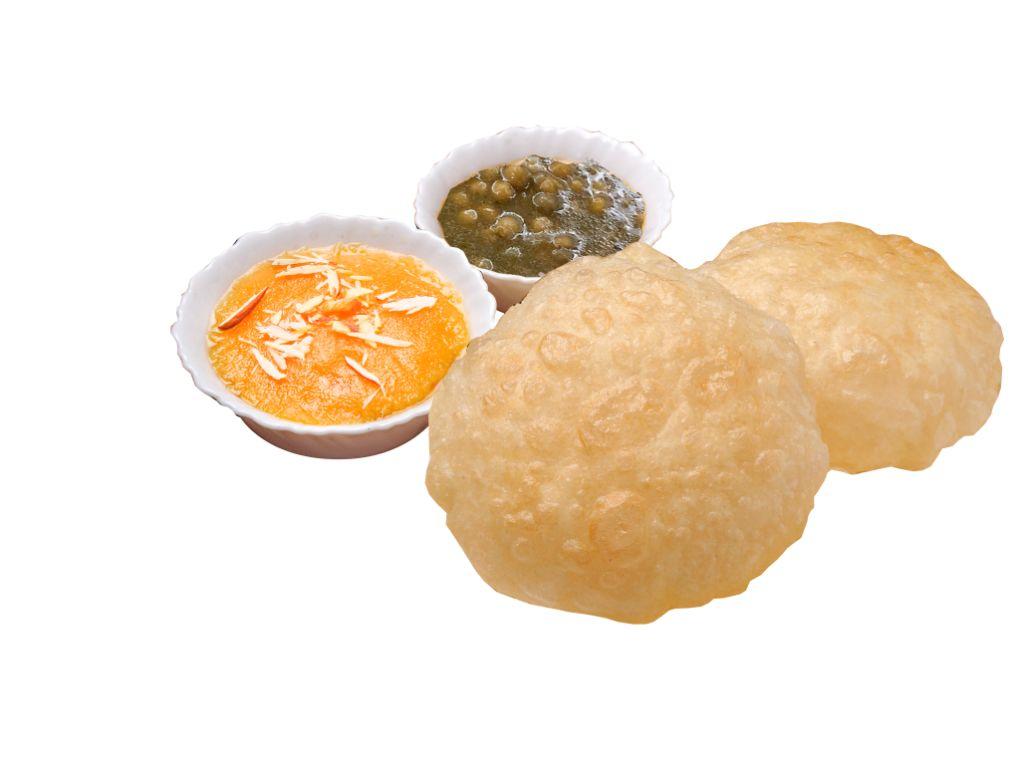Halwa Puri Set (2 Puri with Channa Masla & Halwa)