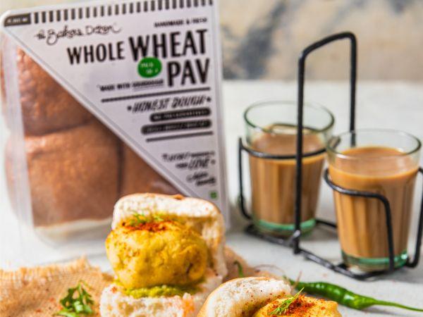 Wholewheat Pav (Sourdough) 100% Wholewheat (220 gms)