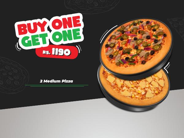 BOGO Medium Pizza Offer