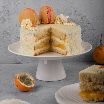 Coconut Passion-Fruit Cake ( Egg ) 1 Kg