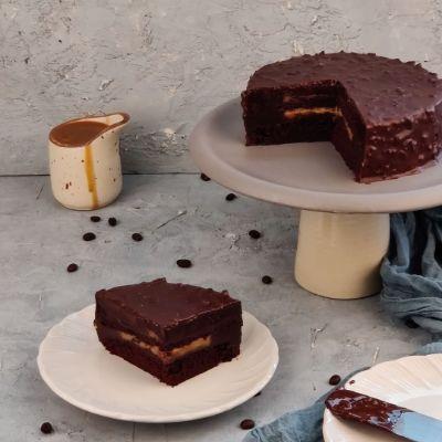 Coffee Butterscotch Chocolate Cake ( Eggless ) 1 Kg