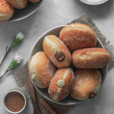 2 Brioche Doughnuts (Egg ) Available 25-26th September