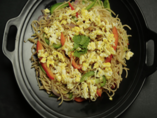 Egg Quinoa Millet Noodles