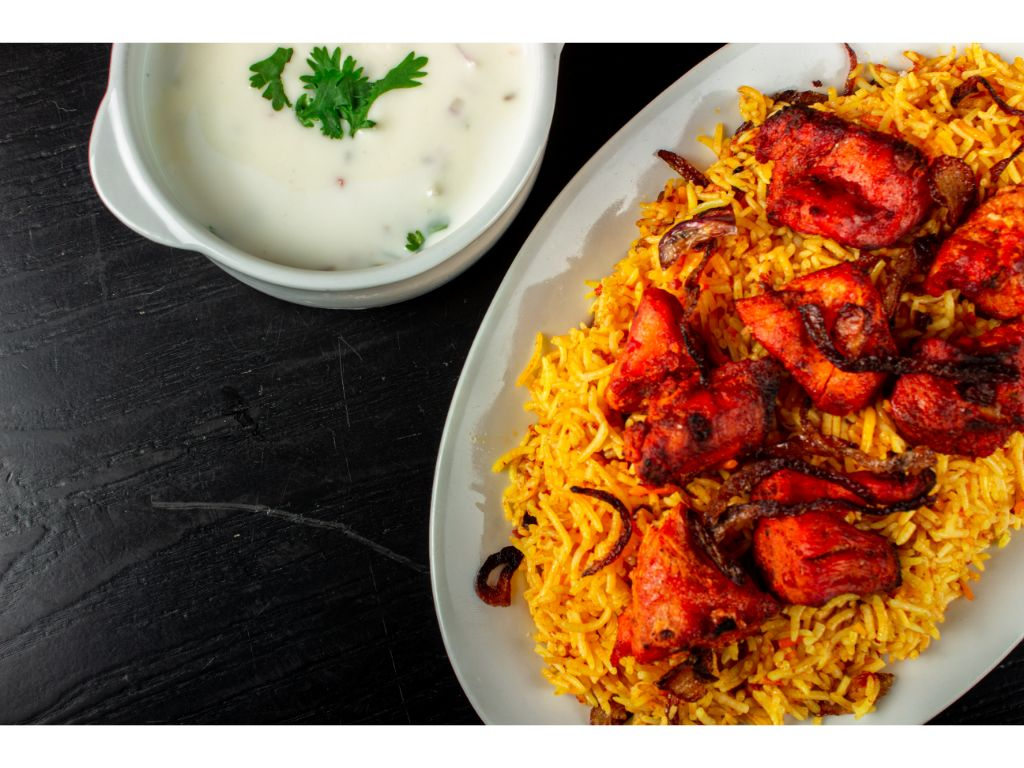 Chicken Tikka Boti Biryani + Water