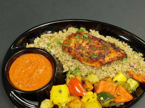 Peri – Peri Chicken and quinoa and roasted vegetables