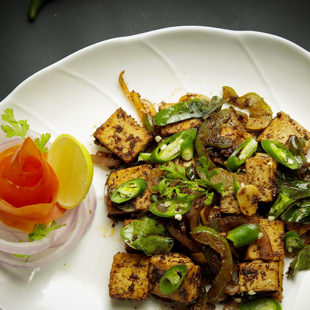 Pan-Seared Chilli Garlic Paneer
