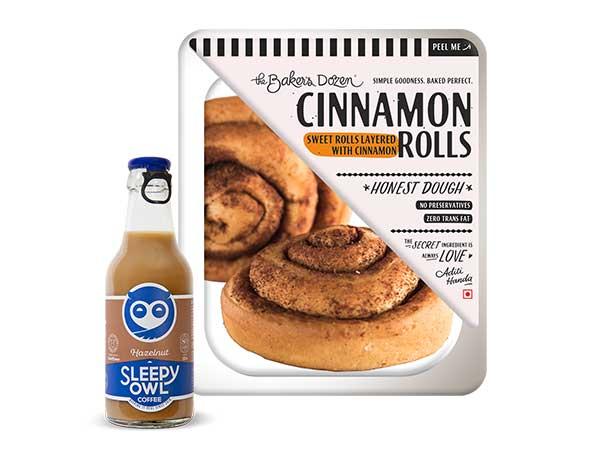 Cinnamon Rolls + Sleepy Owl Hazelnut