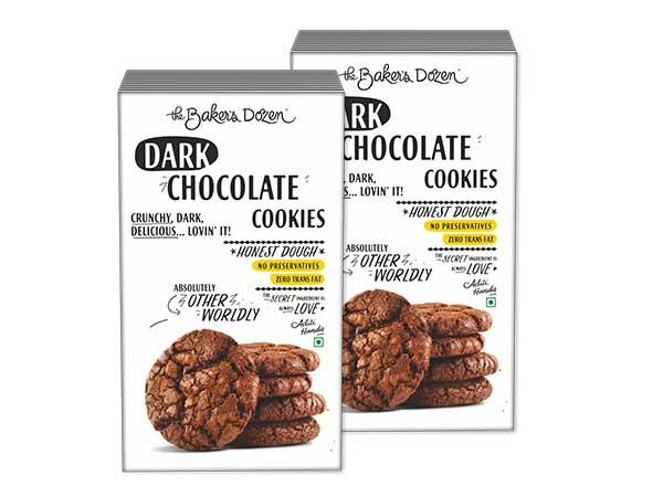 Dark Chocolate Cookies - Pack of 2