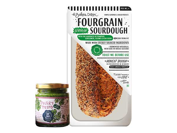 Fourgrain + Celery Pesto
