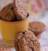 Eggless - Chocolate Ginger Cookies