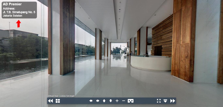 Sewa Kantor Gedung AD Premier Jakarta Selatan Pasar Minggu TB Simatupang Jakarta Virtual Reality
