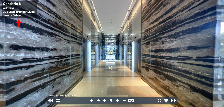 Sewa Kantor Gedung Gandaria 8 Office Tower Jakarta Selatan Kebayoran Lama  Jakarta Virtual Reality