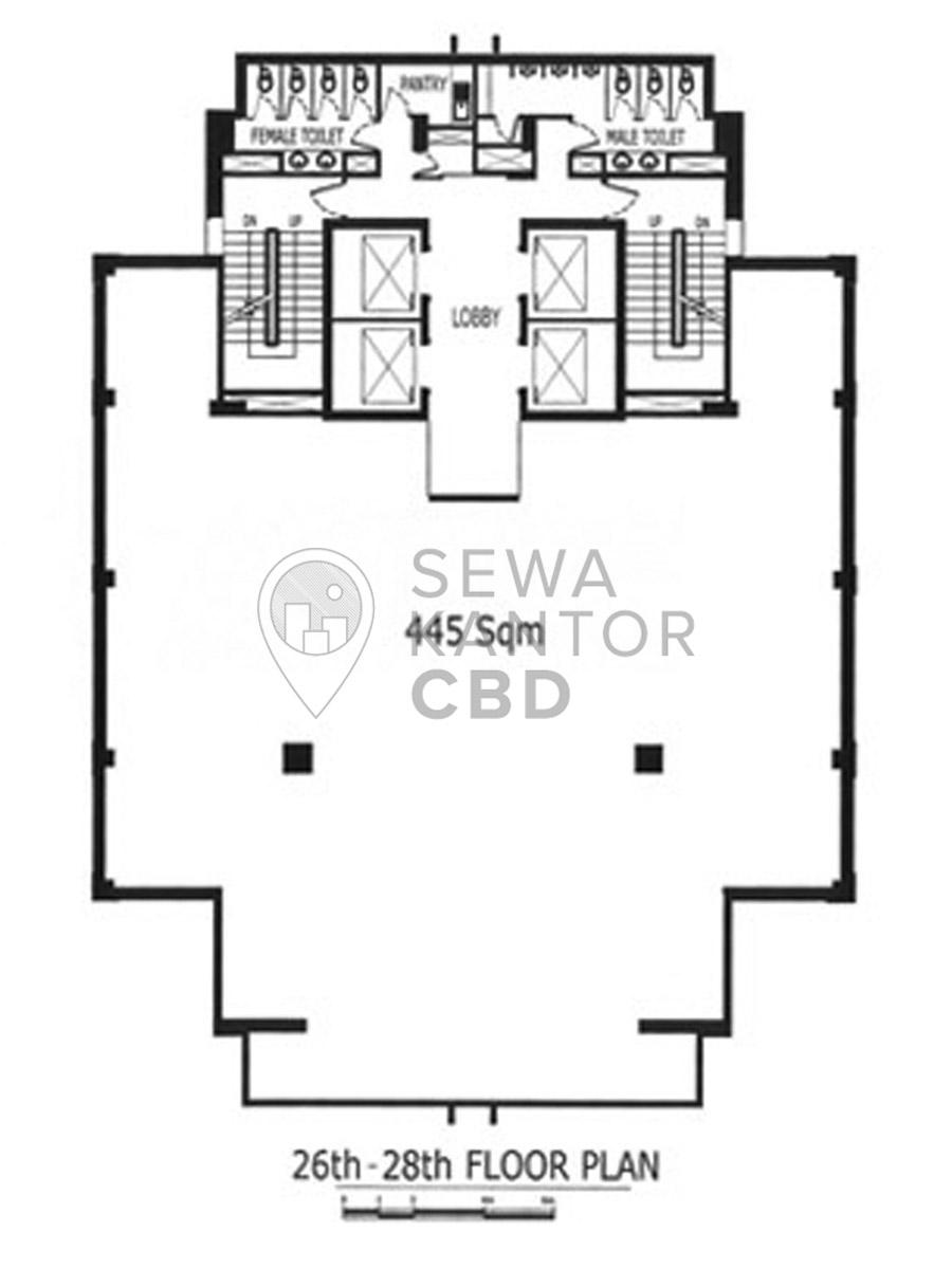Sewa kantor menara anugrah jakarta selatan office for Floor plans for 160 000