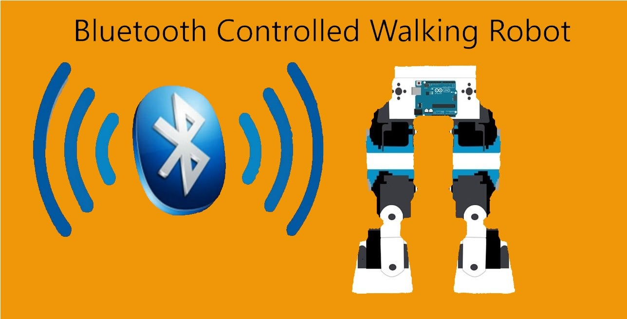 Bluetooth Controlled Walking Robot