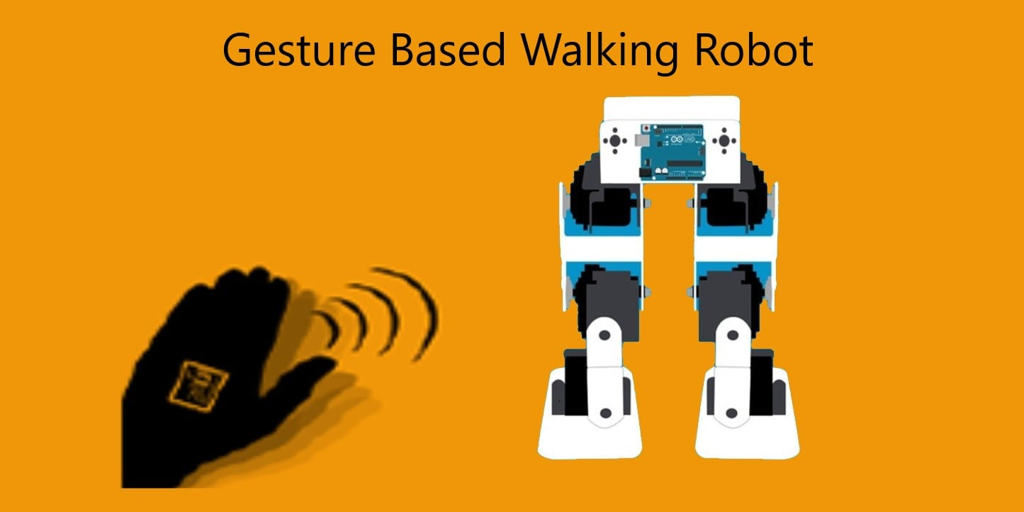 Gesture Controlled Walking Robot