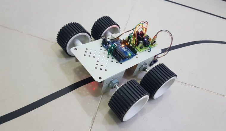 Line Follower With Arm Robot