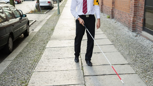 GPS tracker for Blind people using GSM technology