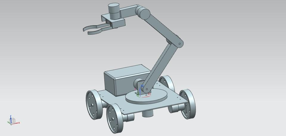Pick and Place Robot Vehicle
