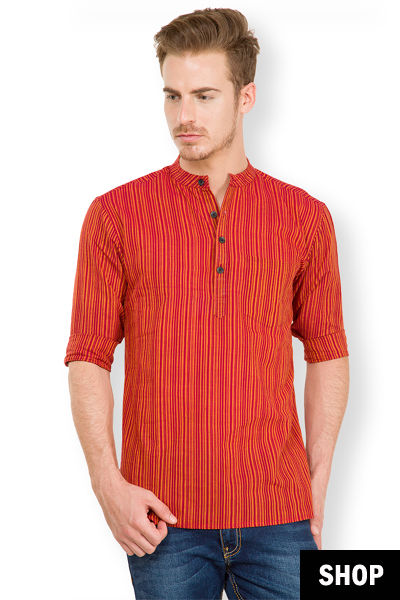 Trendy Casual Kurtas For Men From The Latest Ethnic Wear