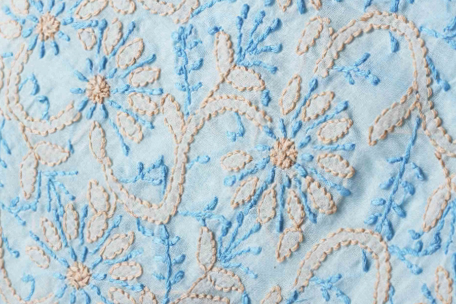 0079db89ac86 Famous Indian Embroidery Styles  Chikankari