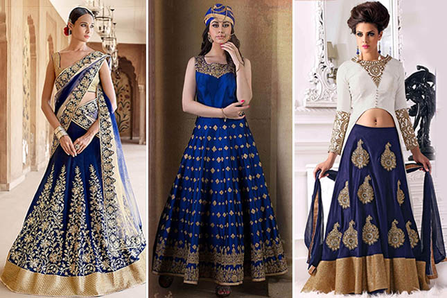 Ethnic fusion wear for brides