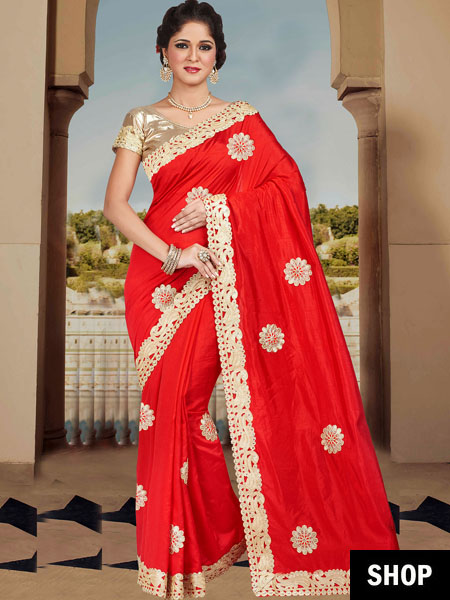 Ravishing Red Sarees To Sizzle Your Way Into 2017 | The ...