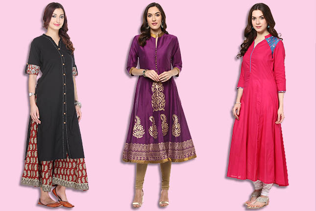 5967ef0d0 7 Kurti Designs That Make Short Women Look Taller | The Ethnic Soul