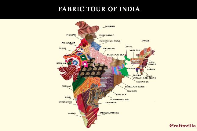 India Map 2017.Fabric Tour Of India Unique Indian Handlooms From All 29 States