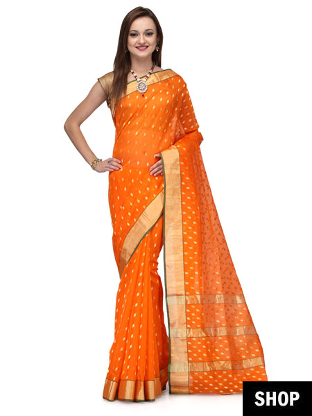 dc91efd8045 8 Unknown Facts About Chanderi Sarees That Will Leave You Amazed ...