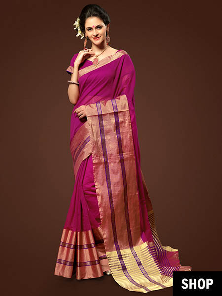 af932b1dbcfa5f 10 Saree Colours That Look Great On Indian Skin Tones
