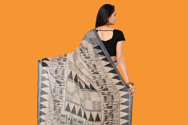 printed sarees for work