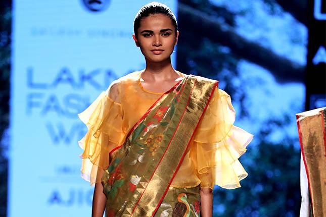 saree trends at lakme fashion week 2017
