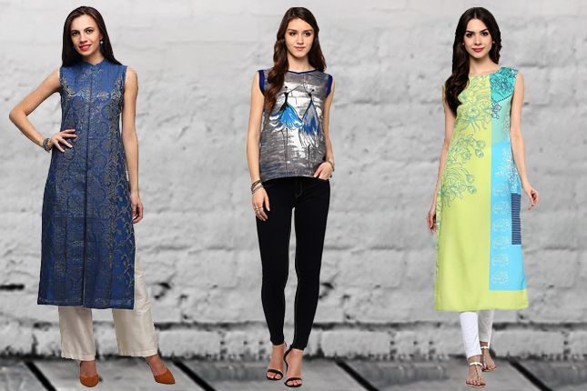65ddf9ccfca7 12 Sleeveless Kurti Designs For Summer That Every Girl Needs | The ...
