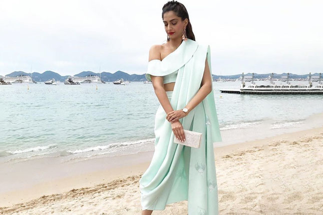 Cannes saree looks