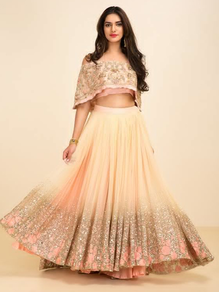 89f0fa0d83ff16 Have you been considering a cold- shoulder  Hold that thought right there.  Cold shoulder saree and lehenga blouses are absolutely ten minutes ago.
