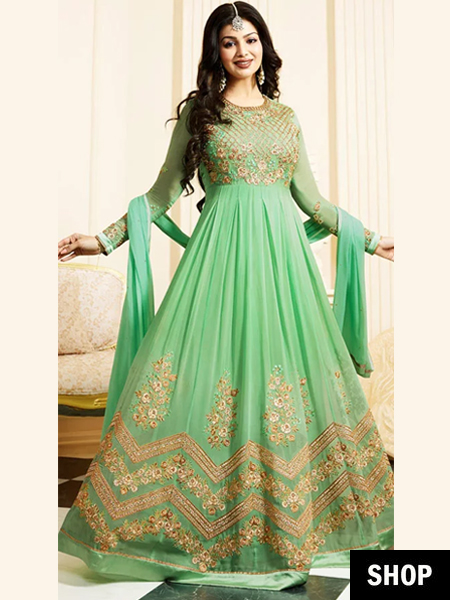 924ec7f56c Sweep the cameras off their feet with a resplendent Anarkali wonder that  skims the floors and makes your feel FABULOUS. Opt for one that compliments  a sunny ...