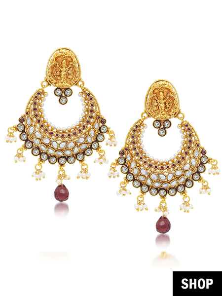 774ec5647 11 Fancy Earrings To Suit ANY Wedding Outfit! | The Ethnic Soul