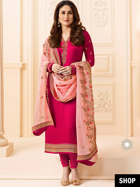 69aa998cfb Looks like this sensational shade of pink is here to stay! Perfect to take  you from work to an evening full of fiestas, this Salwar Suit is a definite  ...