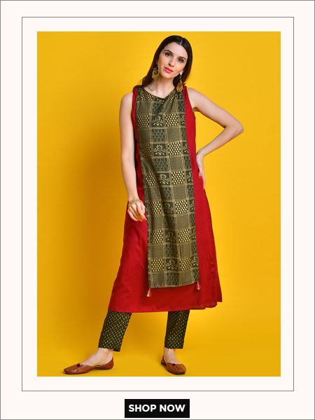 sleeveless festive kurta