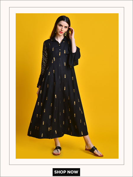 black festive dress kurti