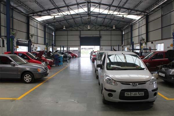 Service workshop v3 hyundai chennai for Hyundai motor finance corp address