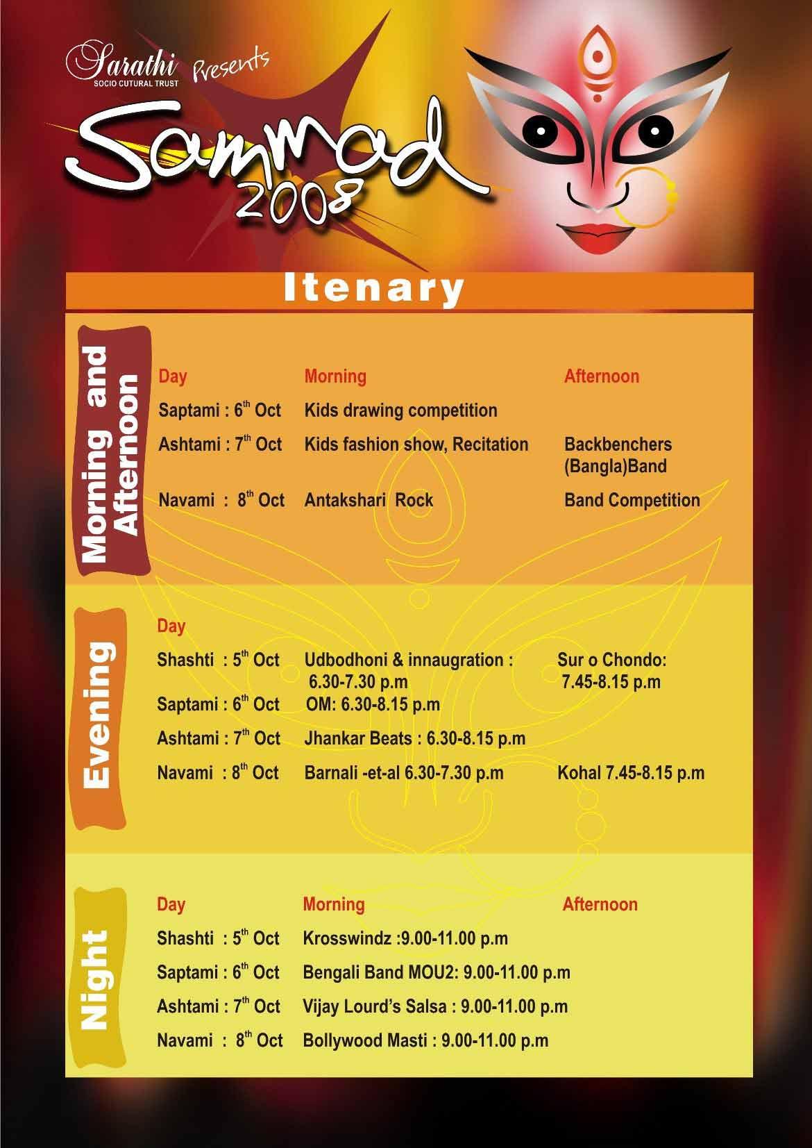 Puja Schedule