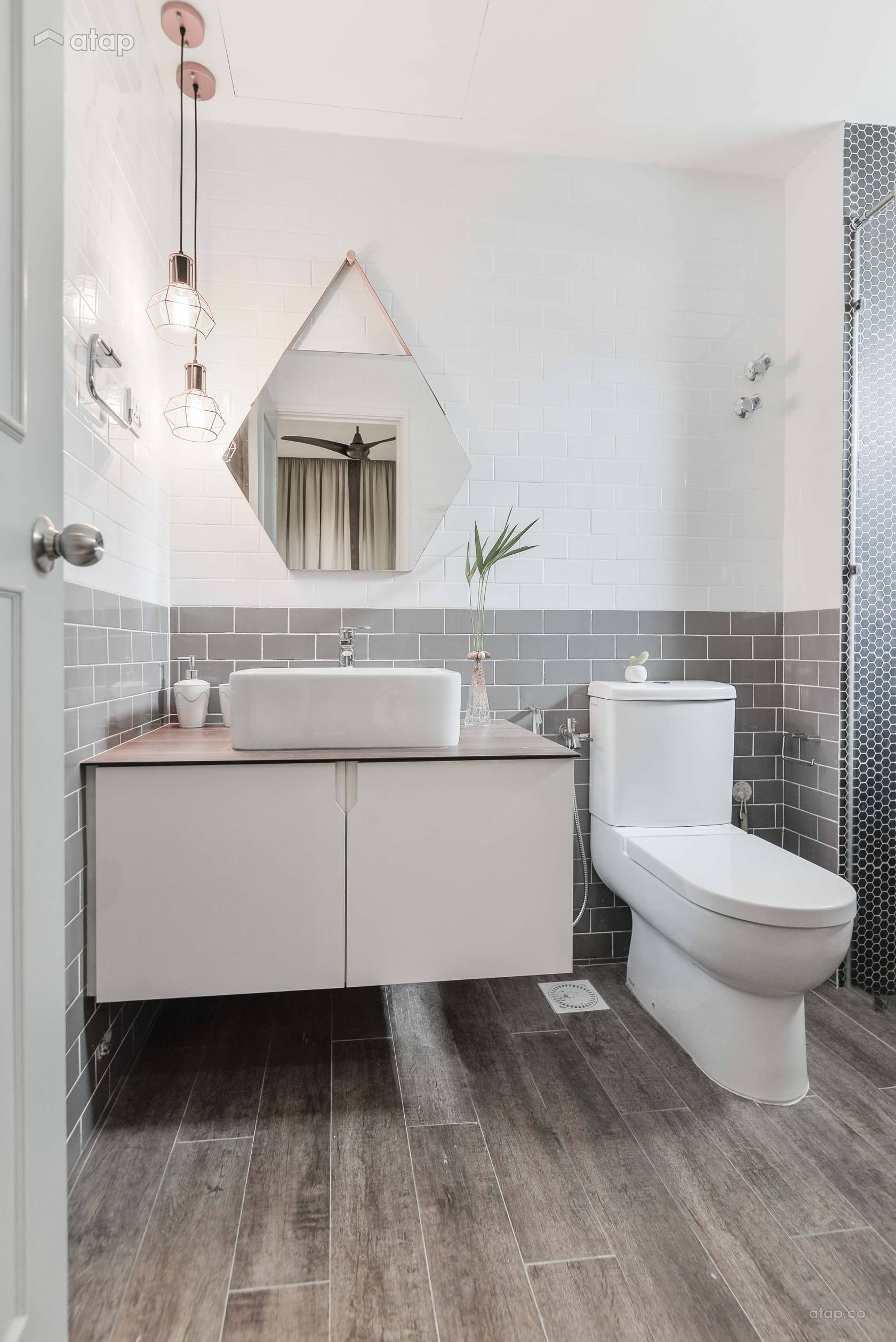 Minimalistic Modern Bathroom condominium design ideas ...